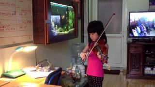 Đêm qua em mơ gặp Bác Hồ ( Violon mới học 7 tuổi )