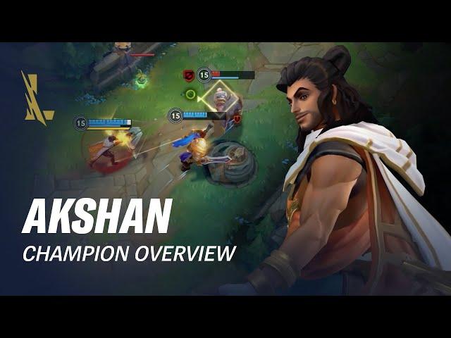 Akshan Champion Overview | Gameplay - League of Legends: Wild Rift
