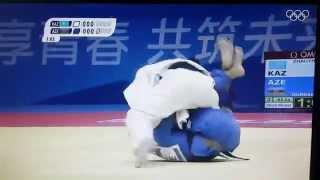 Первый золотой медаль Казахстана. Нанкин 2014. Дзюдо до 55кг
