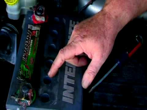 Basic Car Care How To Add Water To A Car Battery Youtube