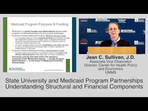 Understanding Structural and Financial Components of University-Medicaid Partnerships