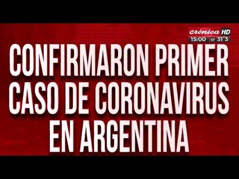 El coronavirus está en Argentina