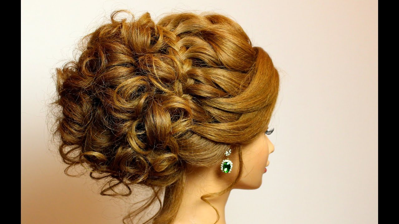 bridal hairstyle for long medium hair tutorial. romantic updo with