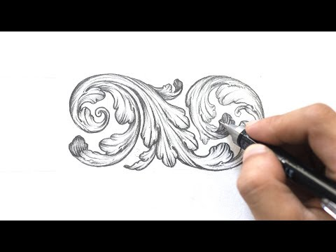 Ornamental Design: Acanthus Leaves (Step-by-step) | Tri Le