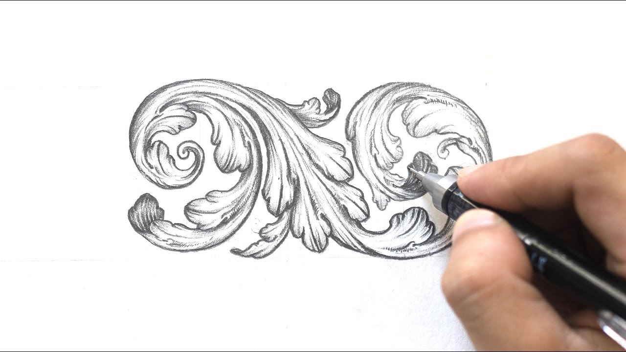 ornamental design acanthus leaves step by step tri le youtube ornamental design acanthus leaves step by step tri le