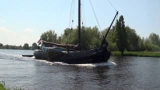 Many different boats sailing on beautifull Dutch Lakes