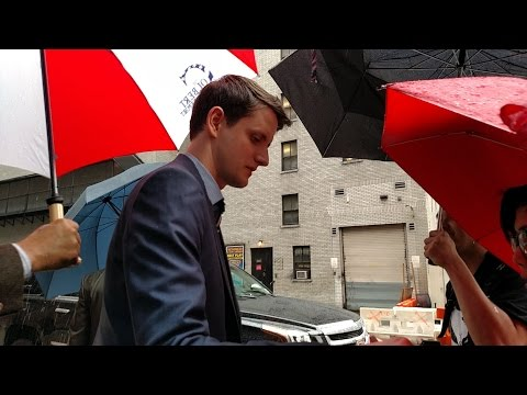 Zach Woods at the Late Show with Stephen Colbert