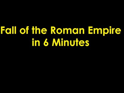 Fall of the Roman Empire in 6 Minutes