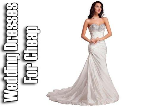 Wedding Dresses For Cheap : Wedding Dresses Under 500 - YouTube