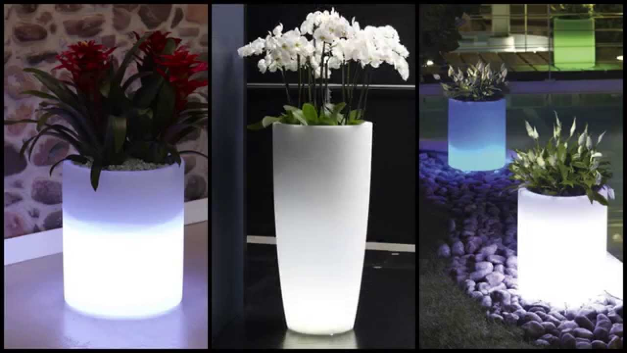 Vasi luminosi da giardino ed interno youtube - Vasi bianchi da interno ...