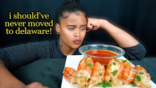 MASSIVE SHRIMP SEAFOOD BOIL MUKBANG + I SHOULD'VE NEVER MOVED TO DELAWARE!