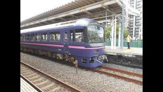 485系お座敷列車『華』(臨時列車) 吉川美南駅出発シーン
