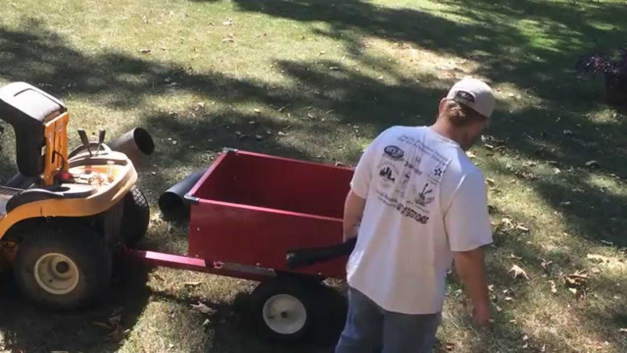 riding mower leaf collector 1 youtube