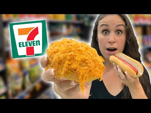 We Eat EVERYTHING at 711 in the Philippines