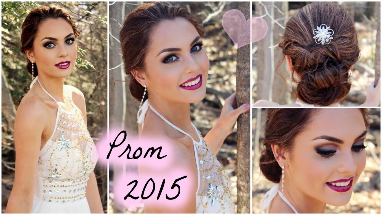 Get Ready With Me For Prom 2015 Soft Smokey Eyes Easy Updo