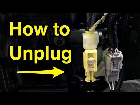 How to unplug yellow seat airbag sensor wire harness connector Lexus Nissan Wiring Harness Plugs on
