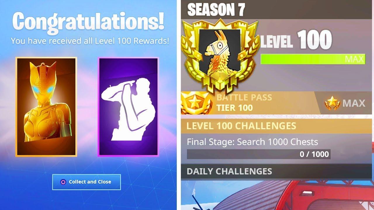 The New Level 100 Rewards In Season 7 Secret Rewards Unlocked In
