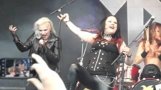 Battle Beast - Show Me How to Die feat. Nitte Valo @ live - Jäälicityrokki, Oulu Finland 13.6.2015