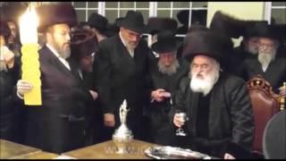 Viznitz Rebbe R' Mendel Hager Making Havdalah In NY - Cheshvan 5776