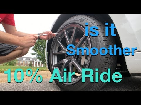 Lower Tire Pressure 10% for a Better Ride ?