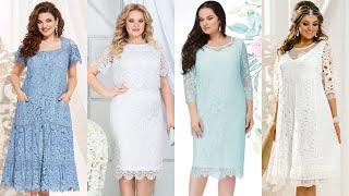 КРУЖЕВНЫЕ ПЛАТЬЯ Летняя женская одежда для ПОЛНЫХ женщин