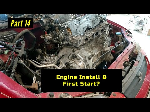 F23 Honda Accord Engine Rebuild Part 14: Engine Install and First Start