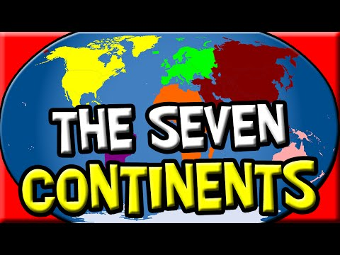 Picture of the world map showing seven continents