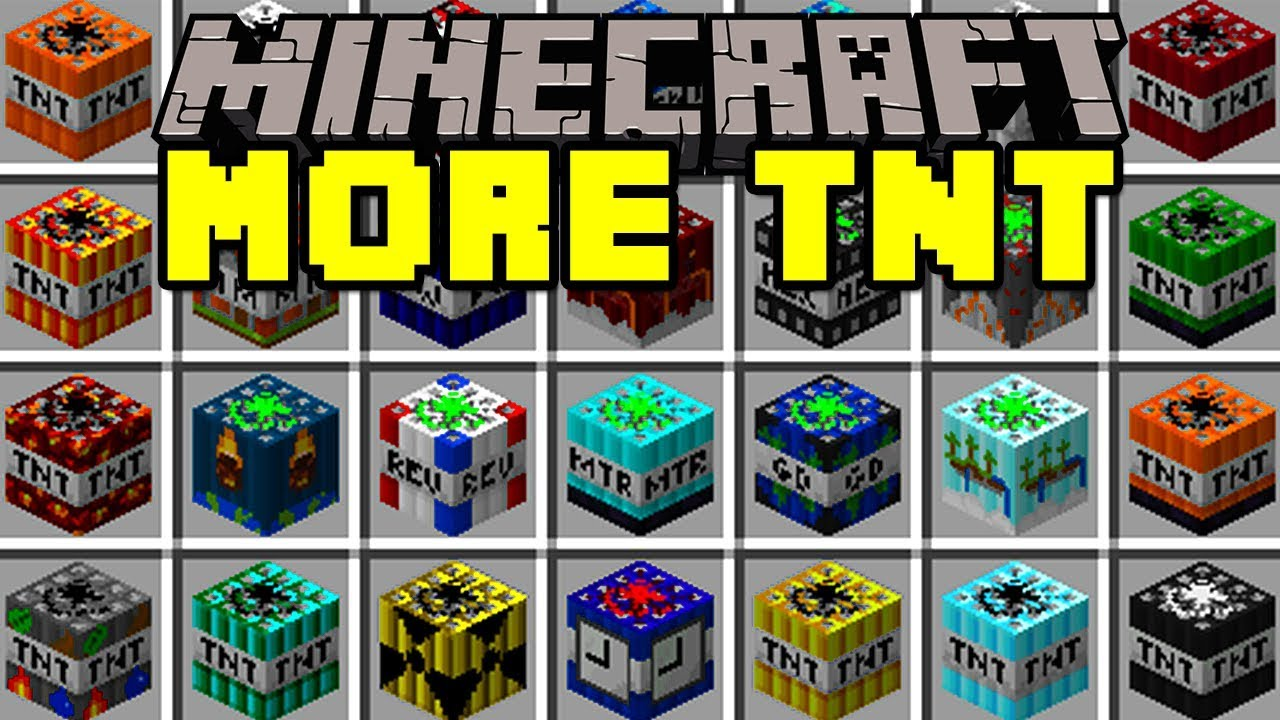 Minecraft MORE TNT MOD! | 100+ TNT, NUKES, DYNAMITES, & MORE! | Modded Mini-Game