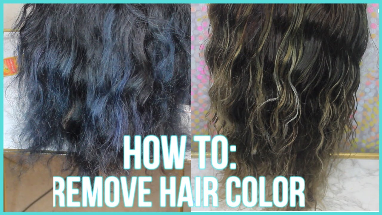 How To Remove Permanent Hair Color From Hair Naturally