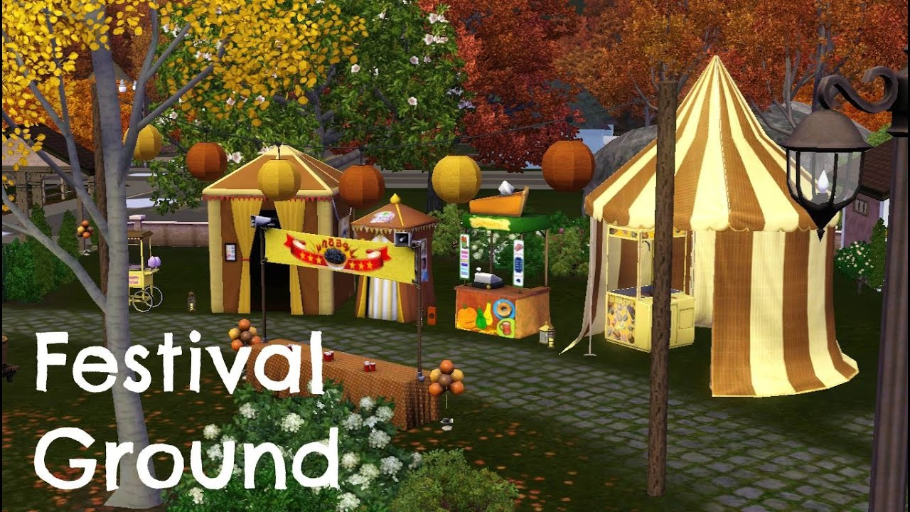 Sims 3 Comunity Lot Building - Festival Ground - YouTube