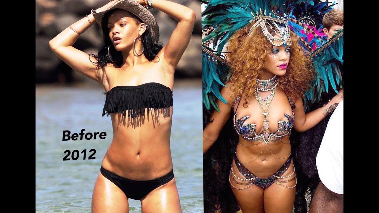 rihanna weight gain comparison
