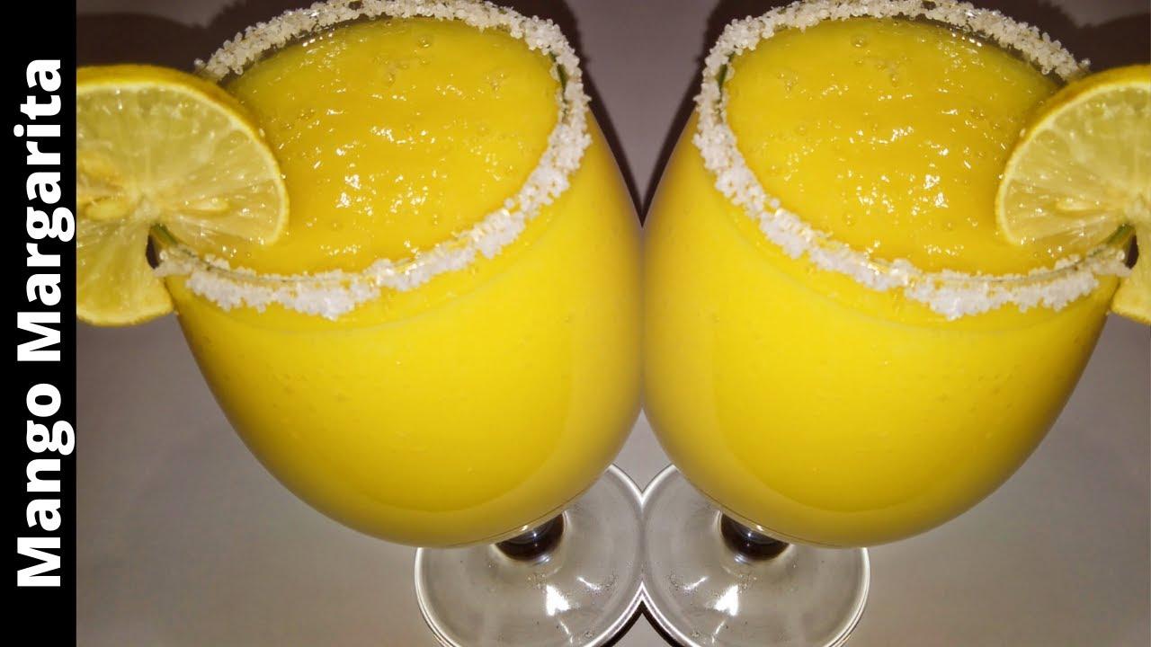 Mango Margarita Recipe - Made With Just 3 Ingredients - Easy & Quick Mango Juice Recipe