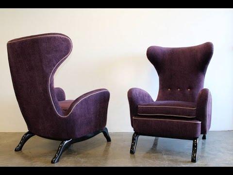 Italian Wing Back Lounge Chair