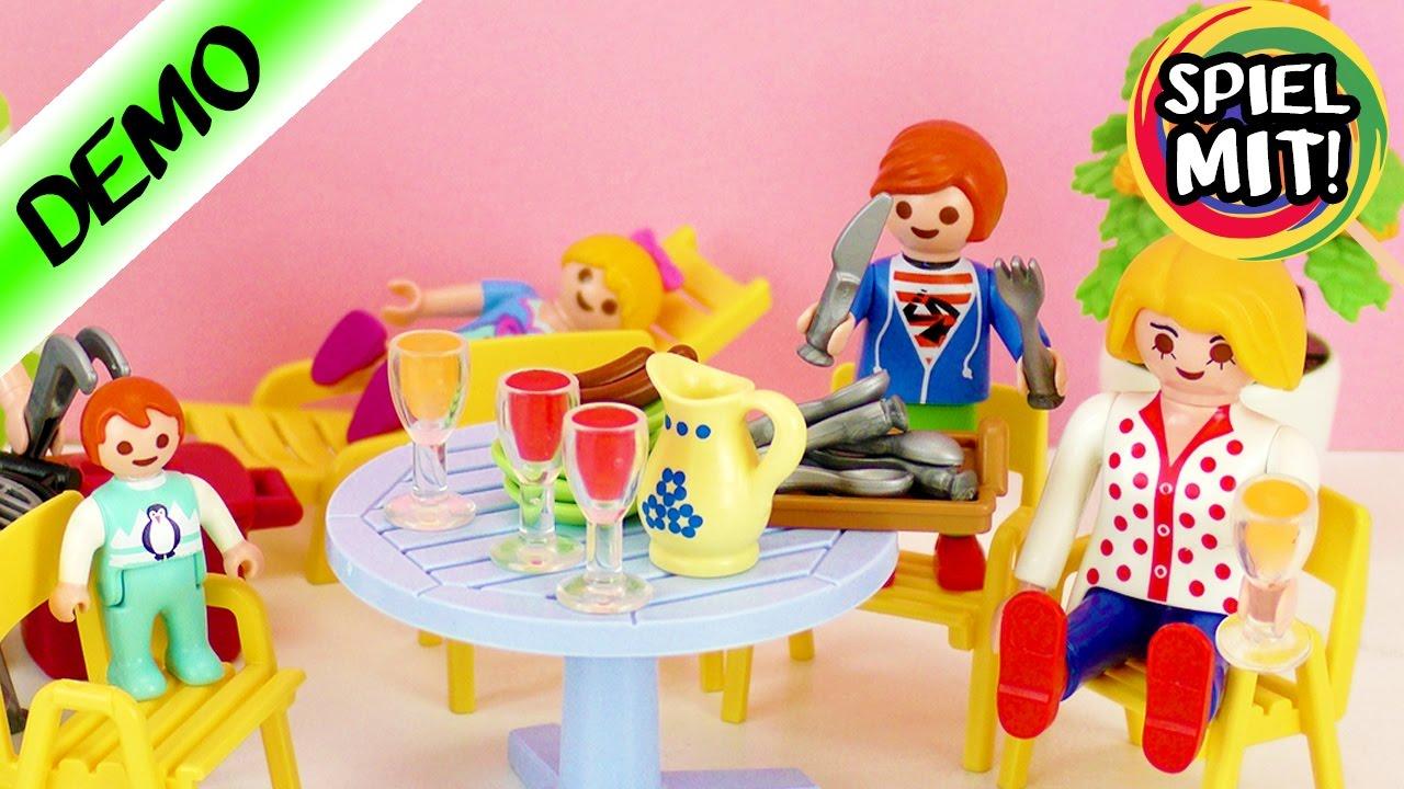 playmobil deutsch neue gartenm bel f r familie vogel demo spiel mit mir kinderspielzeug. Black Bedroom Furniture Sets. Home Design Ideas