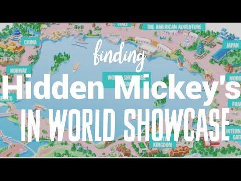 Epcot\'s World Showcase Hidden Mickey hunt! - YouTube