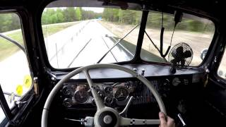Take a ride in the 1950 Kenworth - Shifting and Cummins sound