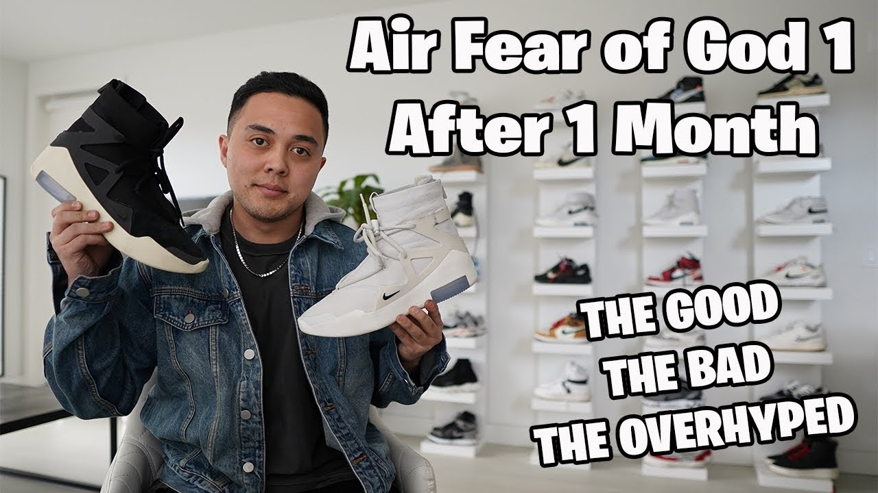 Nike Air Fear of God after 1 Month