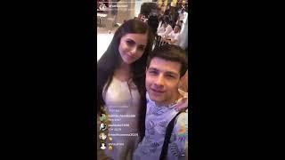 Оля Рапунцель и Дима Дмитренко в прямом эфире Instagram 26-08-2018