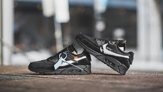 "Gambar cover Off-White x Nike Air Max 90 ""Black / White"": Review & On-Feet"