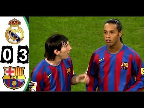 [4k Hd] Real Madrid 0-3 Barcelona 2005 All Goals \u0026 Extended Highlights El Clásico Maç Özeti