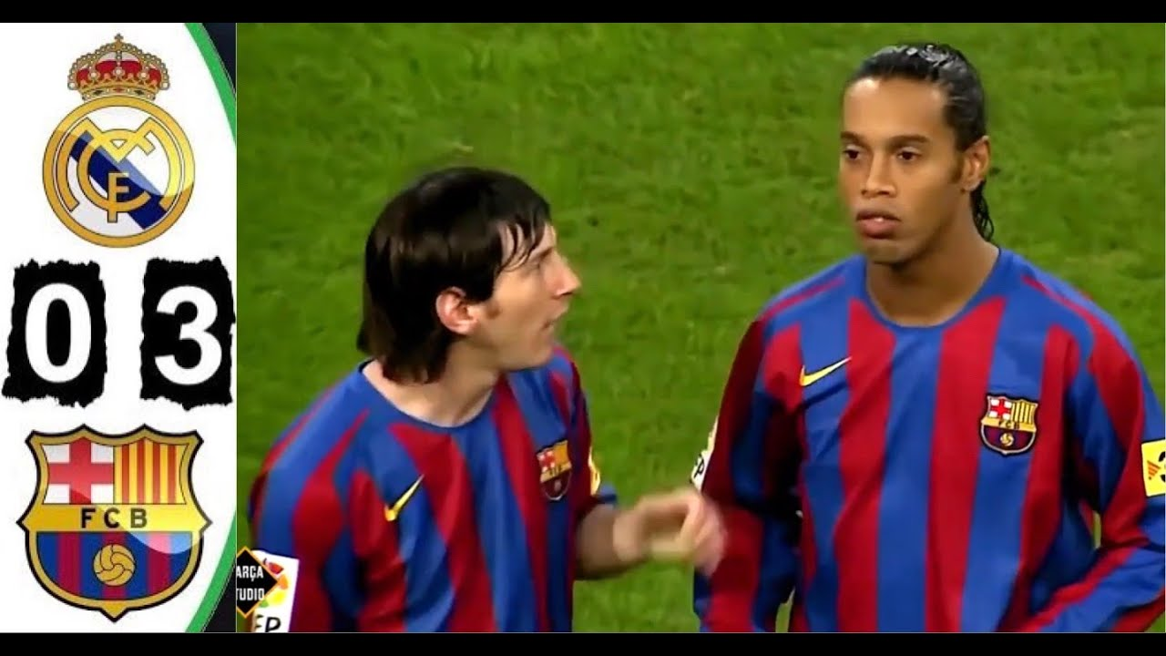 Download [4k Hd] Real Madrid 0-3 Barcelona 2005 All Goals & Extended Highlights El Clásico Maç Özeti