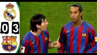 [4k Hd] Real Madrid 0-3 Barcelona 2005 All Goals & Extended Highlights El Clásico Maç Özeti