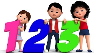 the numbers song   counting song 123   nursery rhymes   learn numbers   3d rhymes