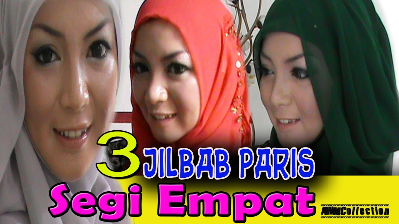 3 Cara Memakai Jilbab Paris Segi Empat Populer By AWMCollection