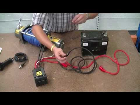 electrical hookup winch