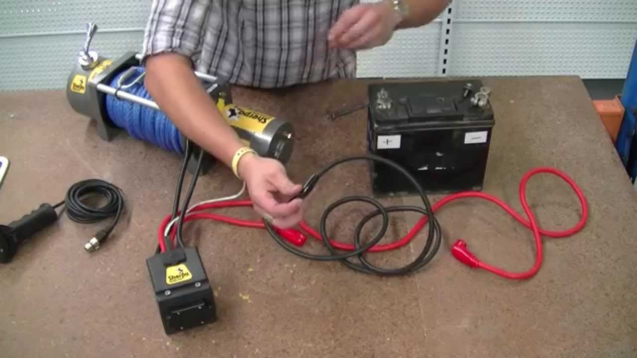 how to wire a 12v winch sherpa 4x4 the colt youtube rh youtube com Warn Winch Controller Wiring Diagram ATV Winch Solenoid Wiring Diagram