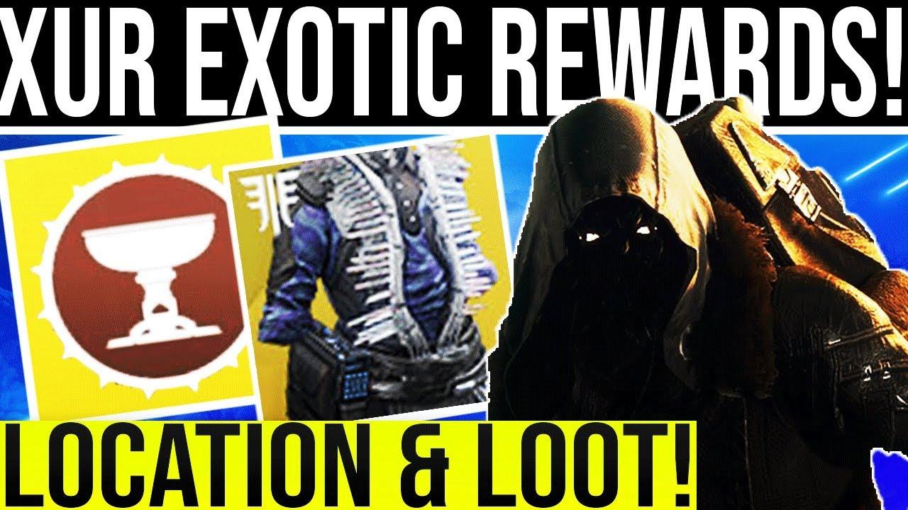 Destiny 2  XUR EXOTIC LOOT! Xur Exotic Gear Random Rolls, Location &  Bounty  Xur August 30, 2019
