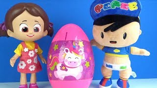 Bebek Pepee Niloya ile Pembe Dev Sürpriz Yumurta ve Pepee Şaşırtı açıp Finger Family Song Söylüyoruz