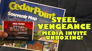 Steel Vengeance Media Invite Unboxing! Cedar Point's New for 2018 Roller Coaster!