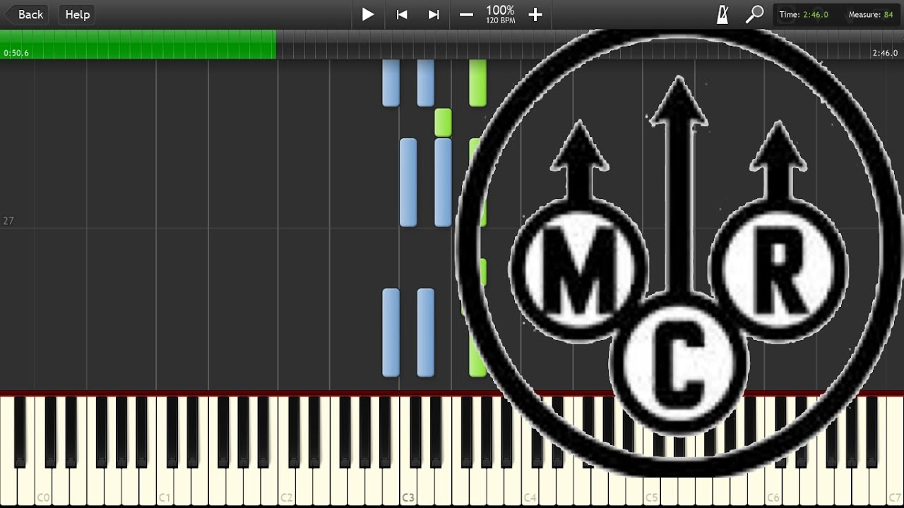 My chemical romance sing easy piano tutorial synthesia youtube my chemical romance sing easy piano tutorial synthesia hexwebz Choice Image